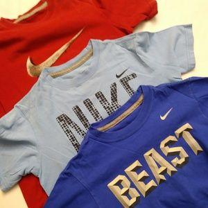 Nike Boys Bundle of 3 Tshirts Size S Red/Blue